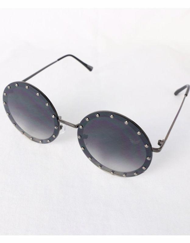 Óculos Metal Lente Policarbonato Degradê Preto